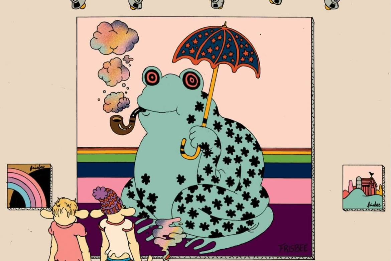 Dibujo de una rana paraoica de Brian Blomerth
