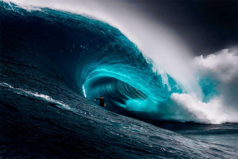 """""""The Right"""". (Fotografía de surf de Ren Mcgann)"""