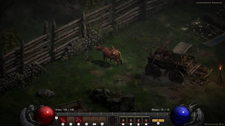 Diablo II Screen: Resurrected.