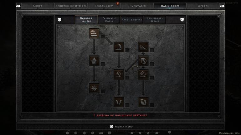Skill Tree in Diablo II: Resurrected.