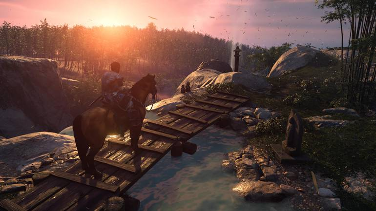 Sunset in Ghost of Tsushima.
