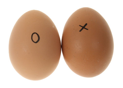 You can mark each egg with a pencil or permanent marker pen