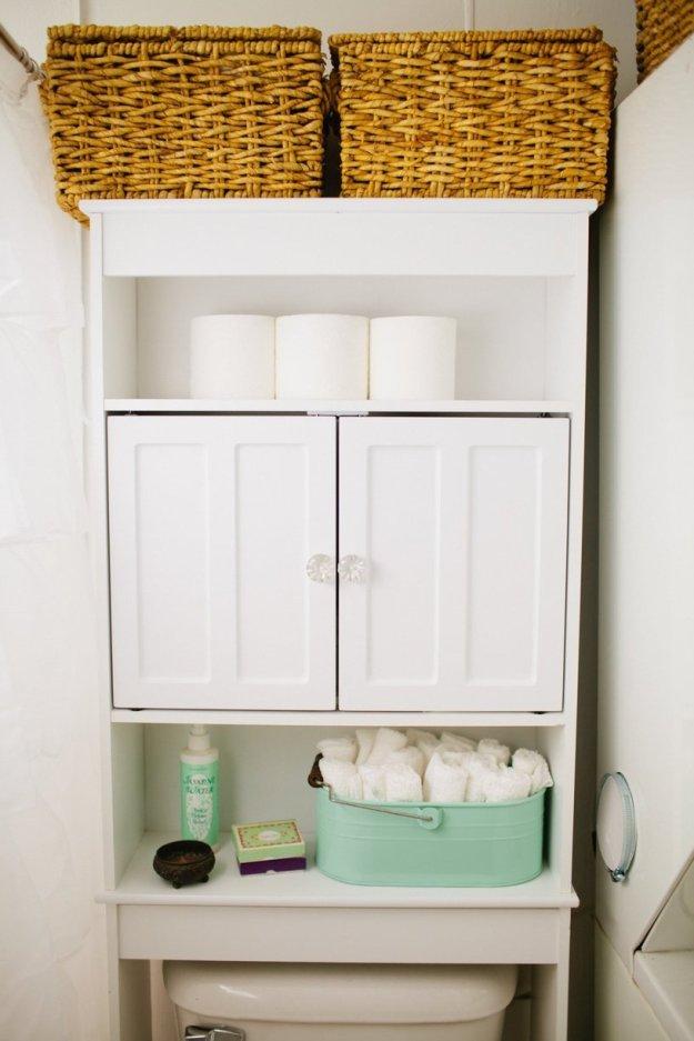 17 brilliant over the toilet storage ideas