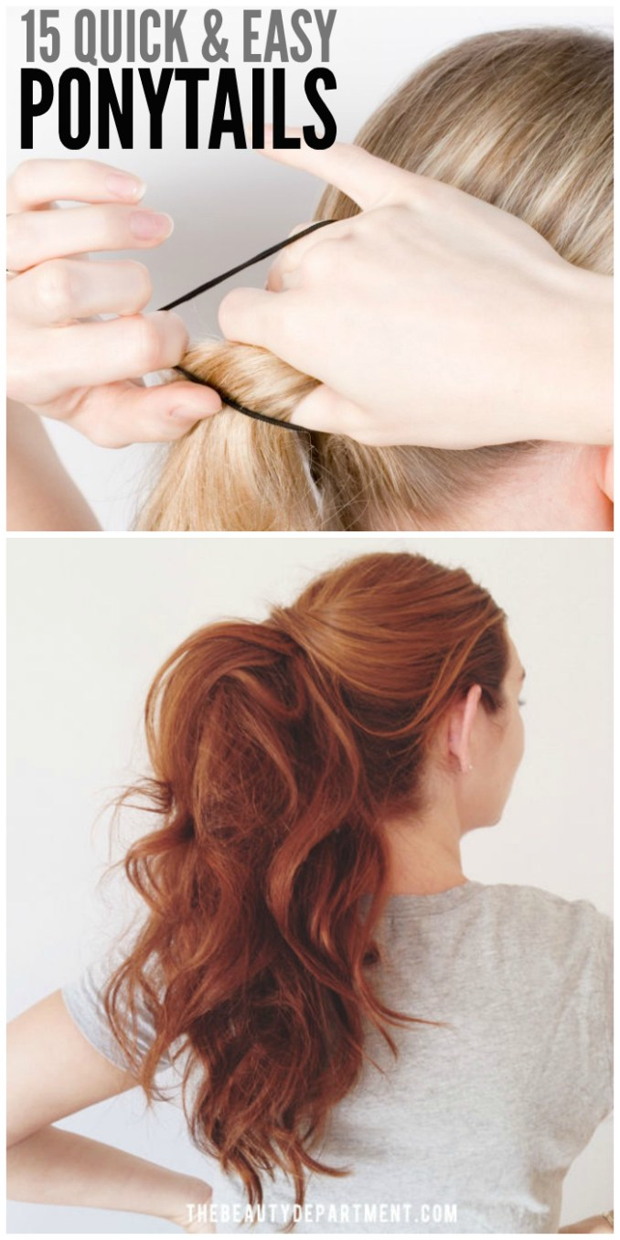 15 cute and quick ponytail ideas to spruce up mom hair