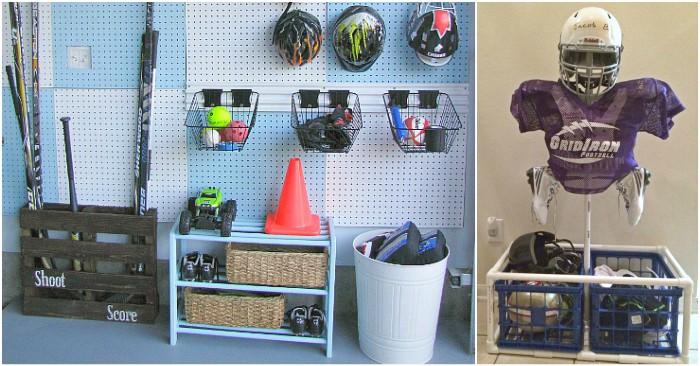 15 sports equipment storage ideas for