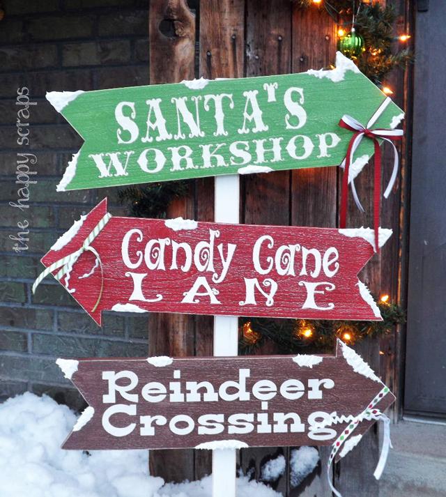 DIY Christmas arrows sign