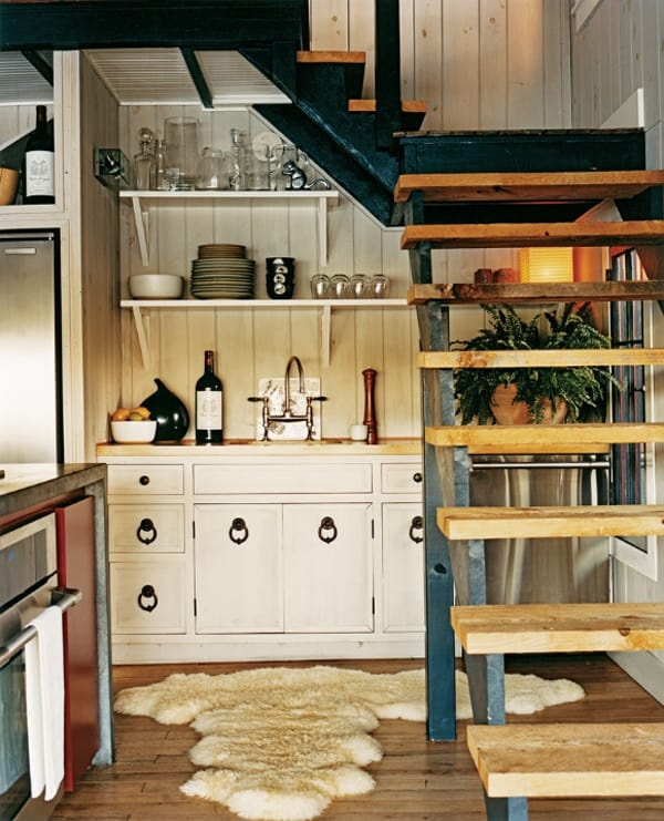55 Amazing Space Saving Kitchens Under The Stairs   Stair Room Outside Design   Front Main Entrance   Natural   Family House   Normal   Connection