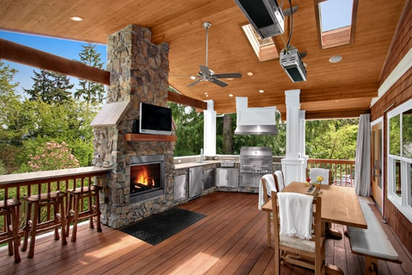 70 Awesomely clever ideas for outdoor kitchen designs on Outdoor Kitchen And Fireplace Ideas id=71511