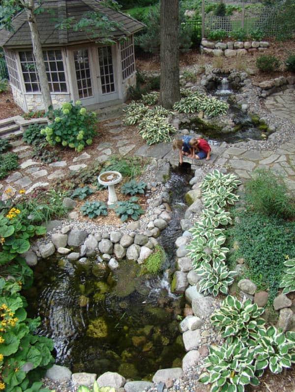 55 Visually striking pond design ideas for your backyard on Backyard Stream Ideas id=32543
