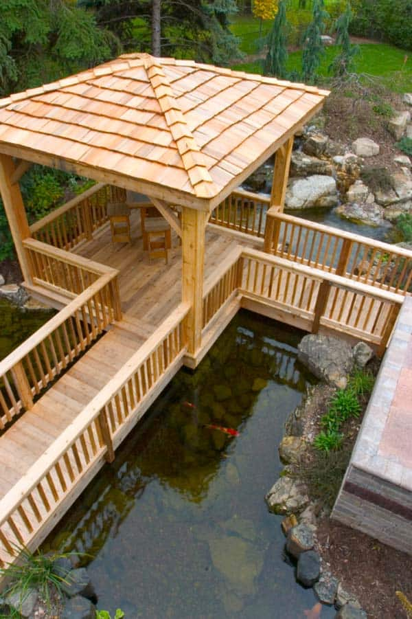 55 Visually striking pond design ideas for your backyard on Backyard Pond Landscaping Ideas id=54172