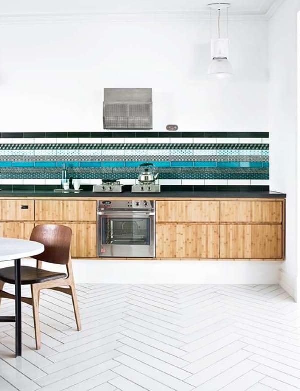 create a decorative kitchen backsplash