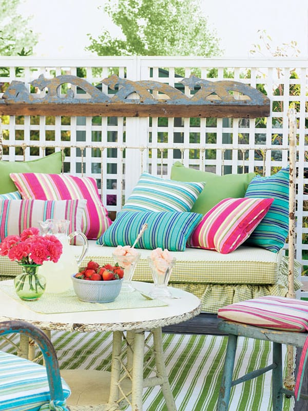 colorful outdoor living spaces