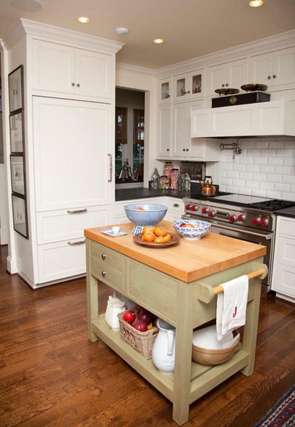 48 Amazing space-saving small kitchen island designs on Small Space Small Kitchen Ideas  id=23630
