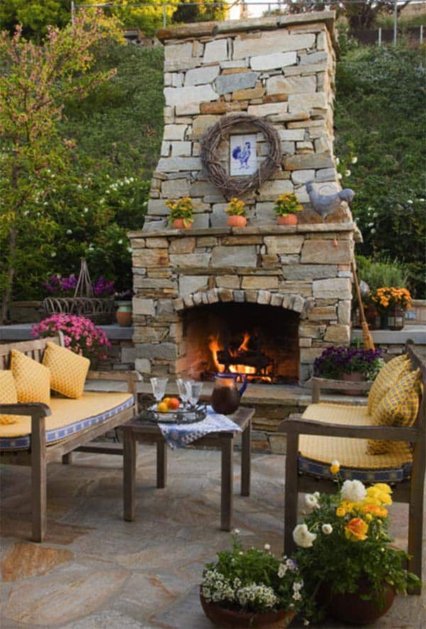 53 Most amazing outdoor fireplace designs ever on Amazing Outdoor Fireplaces  id=81099
