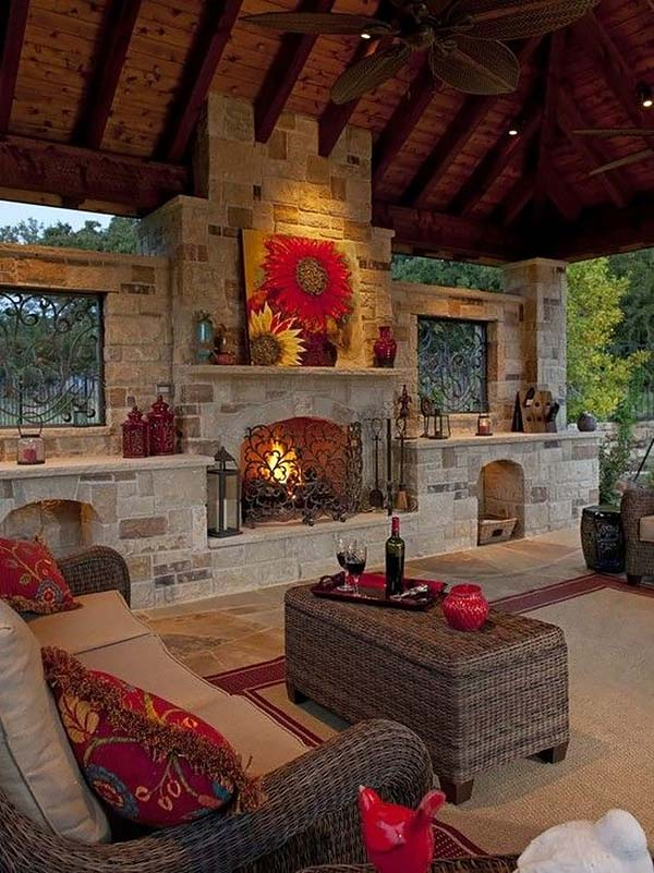 53 Most amazing outdoor fireplace designs ever on Amazing Outdoor Fireplaces  id=53876