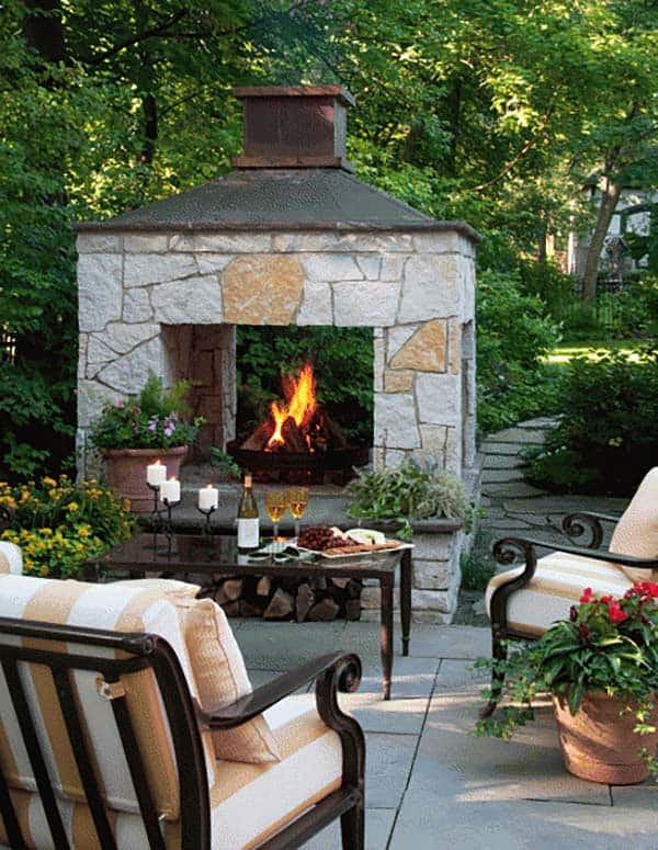 53 Most amazing outdoor fireplace designs ever on Amazing Outdoor Fireplaces  id=49593
