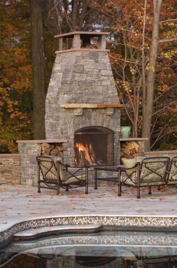 53 Most amazing outdoor fireplace designs ever on Amazing Outdoor Fireplaces  id=11350