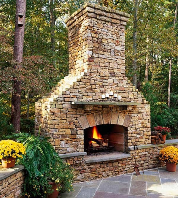 53 Most amazing outdoor fireplace designs ever on Outdoor Fireplaces Ideas  id=72685