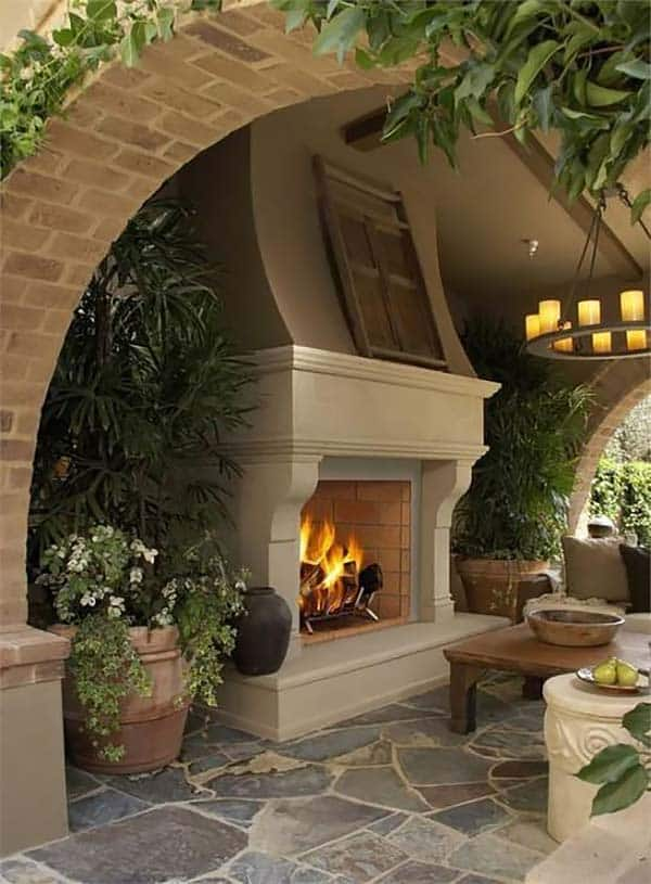 53 Most amazing outdoor fireplace designs ever on Amazing Outdoor Fireplaces  id=86176