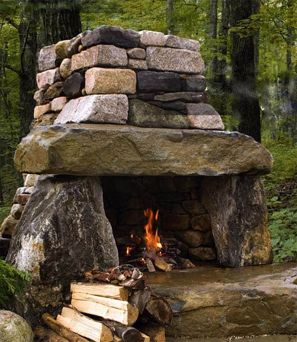 53 Most amazing outdoor fireplace designs ever on Outdoor Fireplaces Ideas  id=86531
