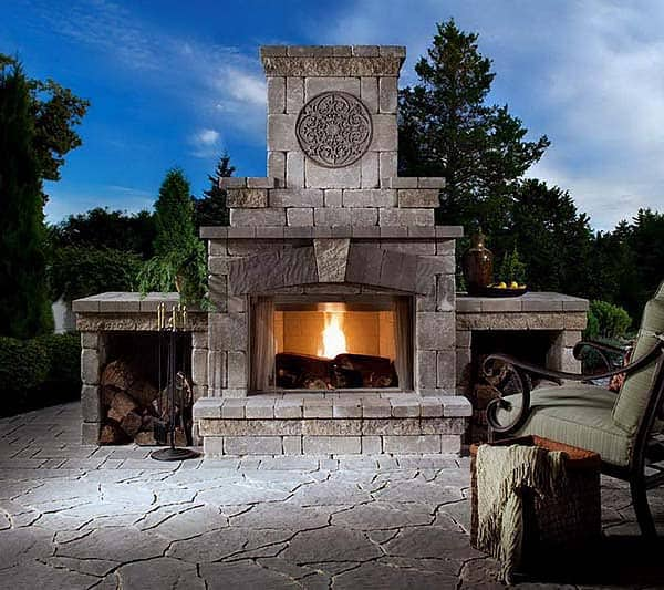 53 Most amazing outdoor fireplace designs ever on Amazing Outdoor Fireplaces  id=64891