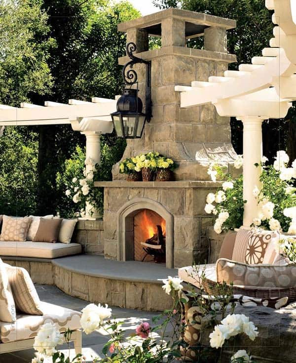 53 Most amazing outdoor fireplace designs ever on Amazing Outdoor Fireplaces  id=11548