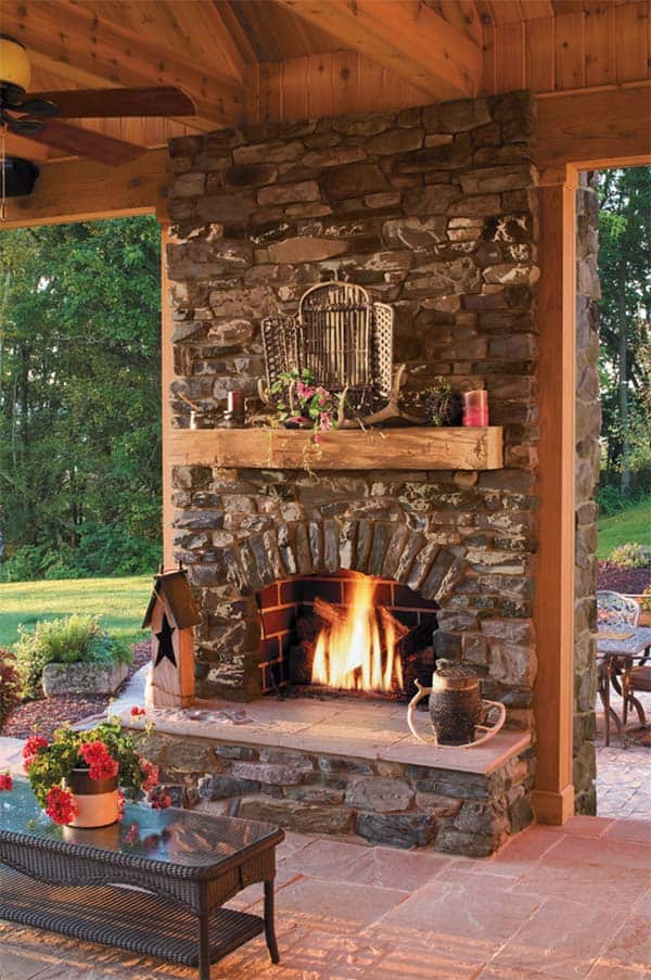 53 Most amazing outdoor fireplace designs ever on Outdoor Fireplaces Ideas  id=35121