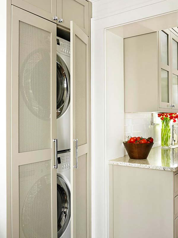 60 Amazingly inspiring small laundry room design ideas on Small Laundry Ideas  id=95093