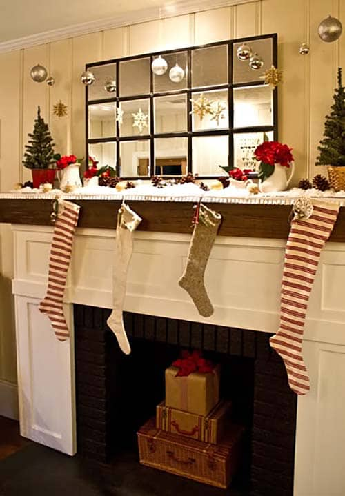 Image Of Christmas Mantel Decorating Ideas