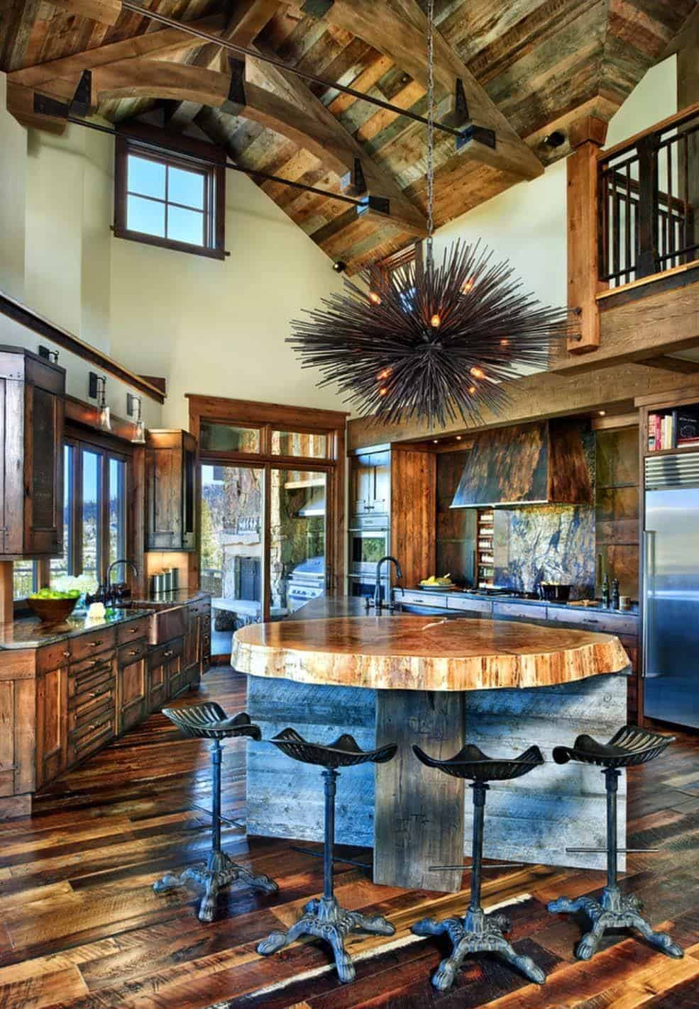 Rustic ranch house in Colorado opens to the mountains on Interior:ybeqvfpgwcq= Modern House  id=72379