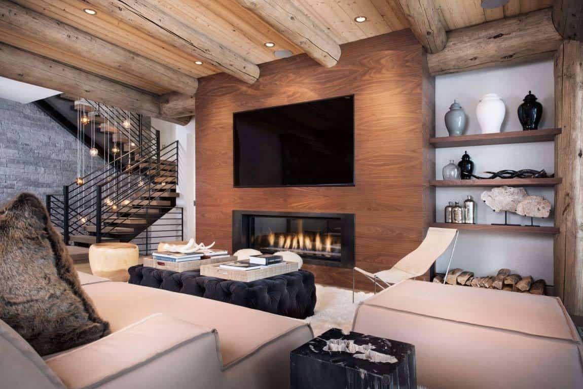 Contemporary reinterpretation of traditional chalet: Ski Haus on Interior:ybeqvfpgwcq= Modern House  id=11292