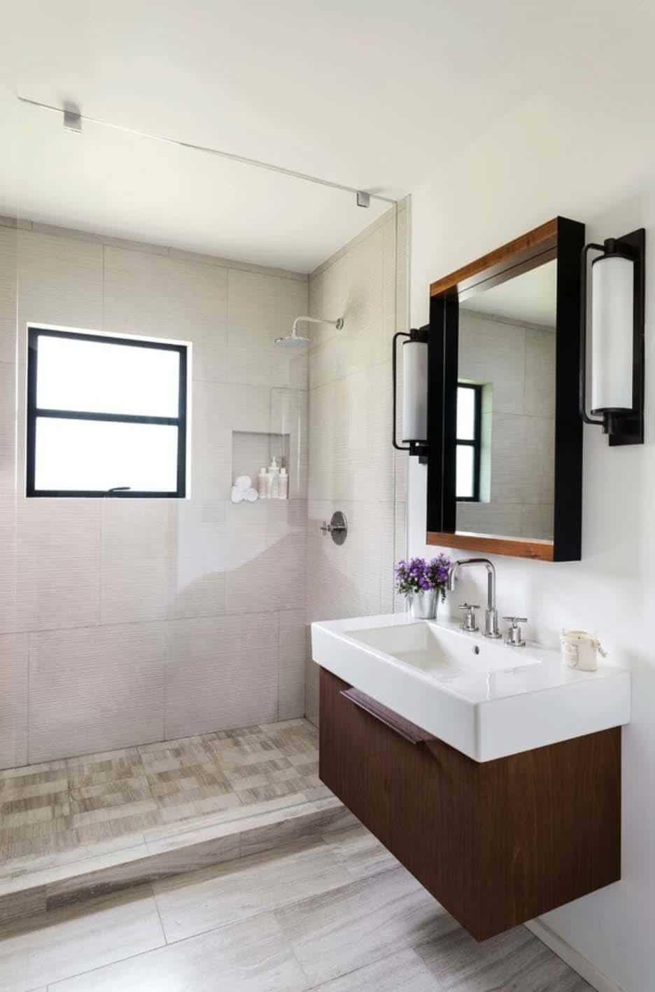 37 Amazing mid-century modern bathrooms to soak your senses on Modern Small Bathroom Remodel  id=55123