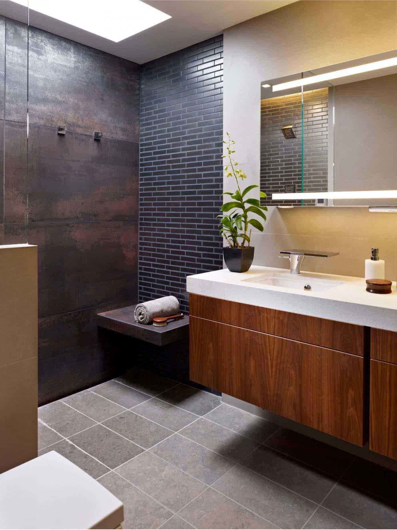 37 Amazing mid-century modern bathrooms to soak your senses on Contemporary Small Bathroom Ideas  id=69647