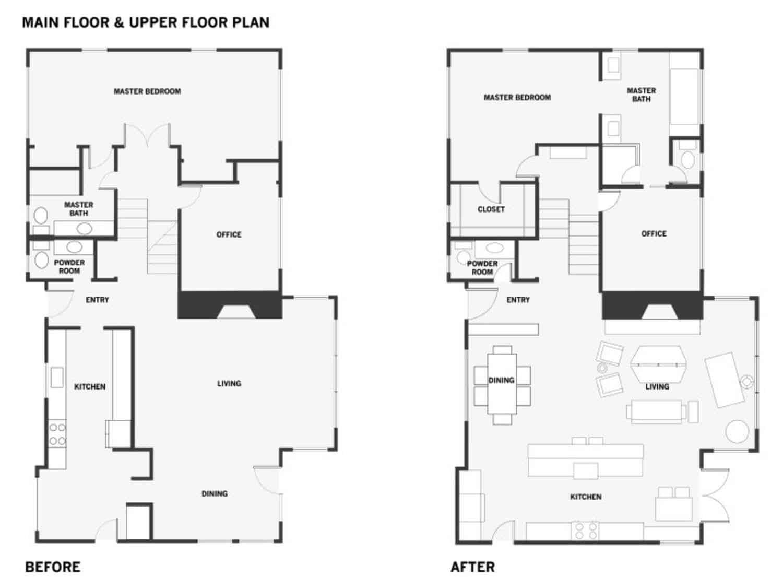 Split Level Mid Century Ranch Home Gets Fabulous Facelift