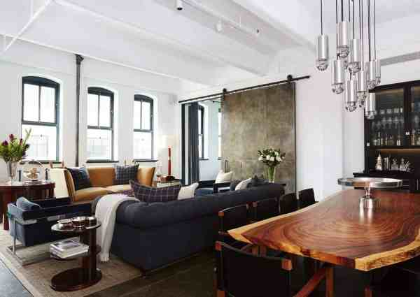 Warehouse loft conceived for a bachelor in New York City