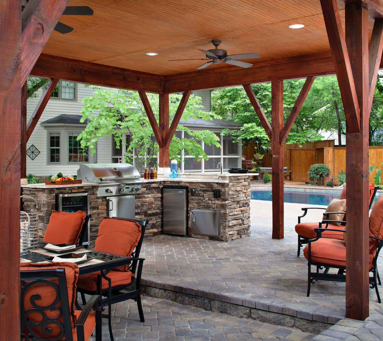 44 Traditional outdoor patio designs to capture your ... on Patios Designs  id=23918