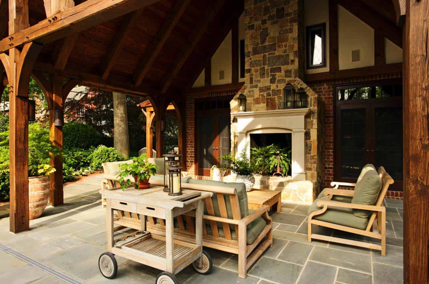 44 Traditional outdoor patio designs to capture your ... on Covered Patio Design Ideas id=92130