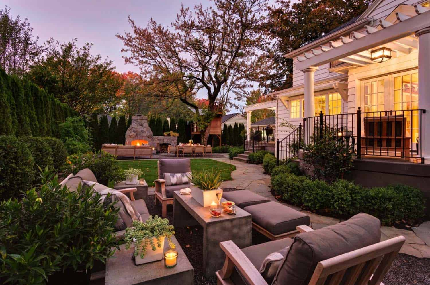 44 Traditional outdoor patio designs to capture your ... on Back Garden Patio Ideas  id=34849