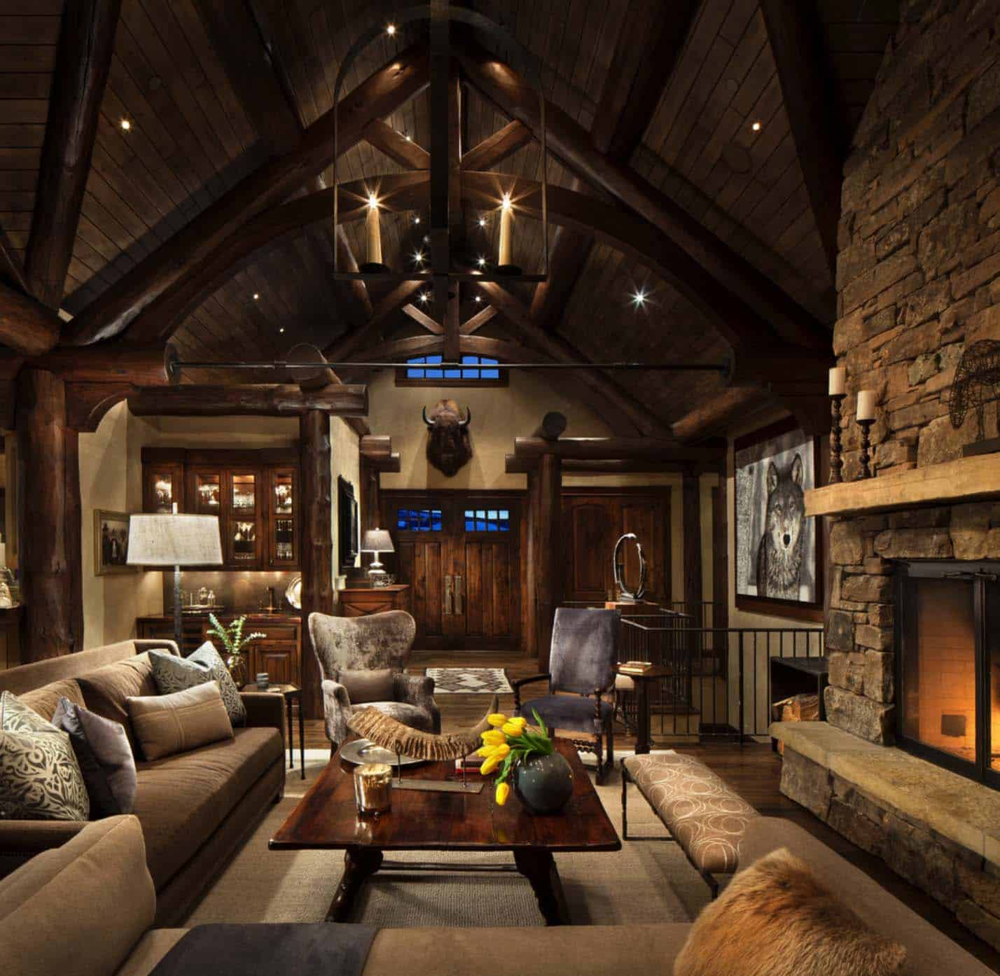 Family Room Rustic Decorating