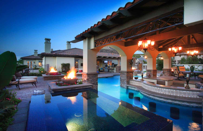 33 Mega-Impressive swim-up pool bars built for entertaining on Backyard Pool Bar Designs id=74822