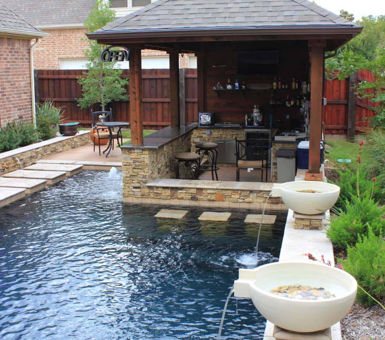 33 Mega-Impressive swim-up pool bars built for entertaining on Backyard Pool Bar Designs  id=76978