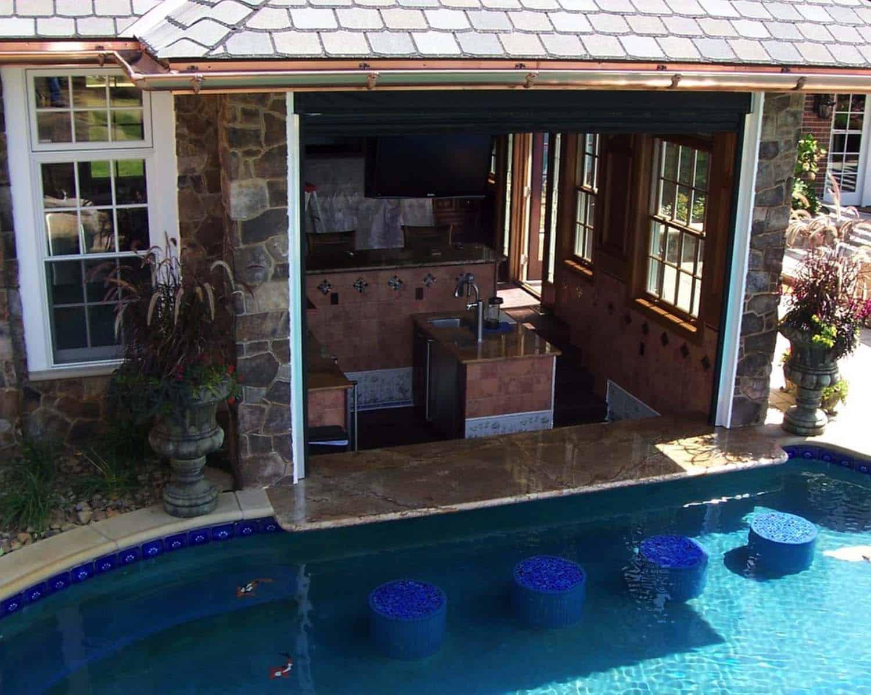 33 Mega-Impressive swim-up pool bars built for entertaining on Backyard Pool Bar Designs  id=16422