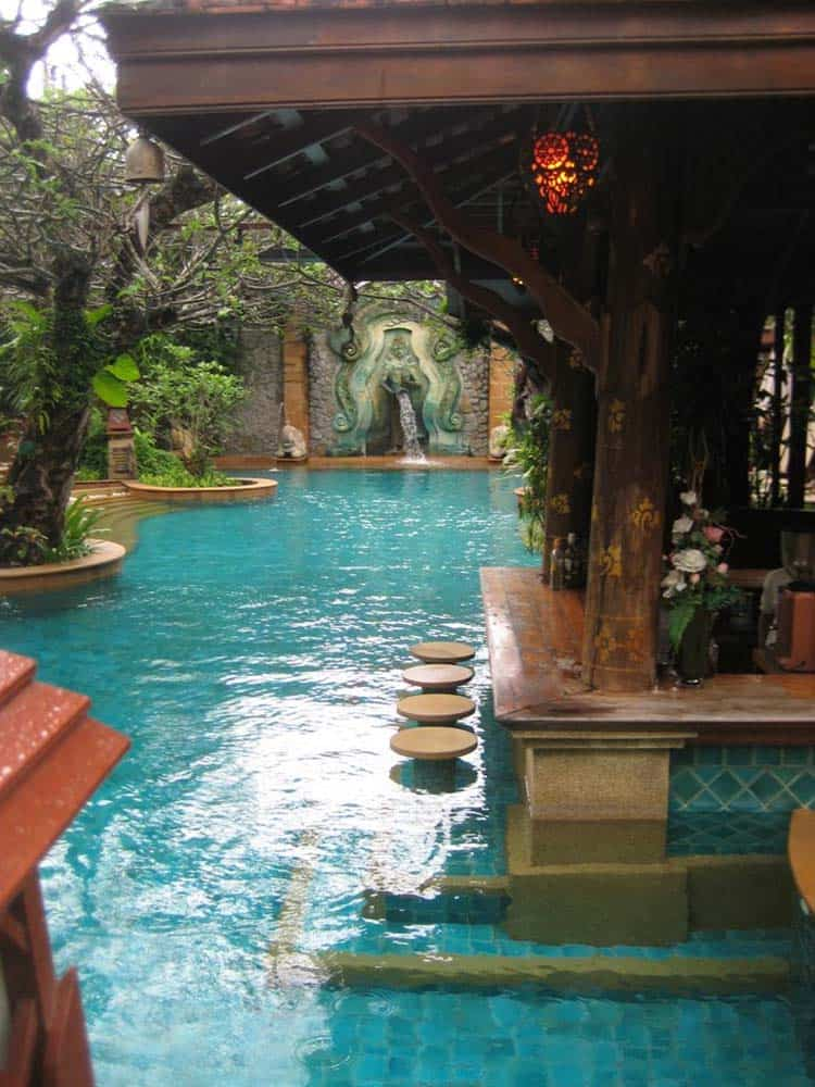 33 Mega-Impressive swim-up pool bars built for entertaining on Backyard Pool Bar Designs  id=30489