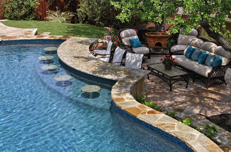 33 Mega-Impressive swim-up pool bars built for entertaining on Backyard Pool Bar Designs  id=18278