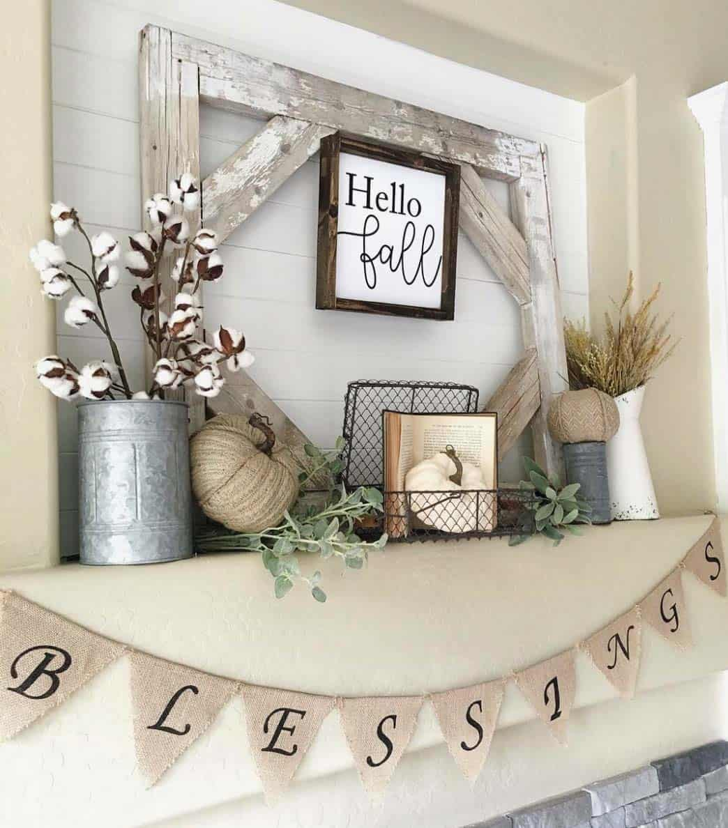 50+ Absolutely gorgeous farmhouse fall decorating ideas on Farmhouse Decorating Ideas  id=47234