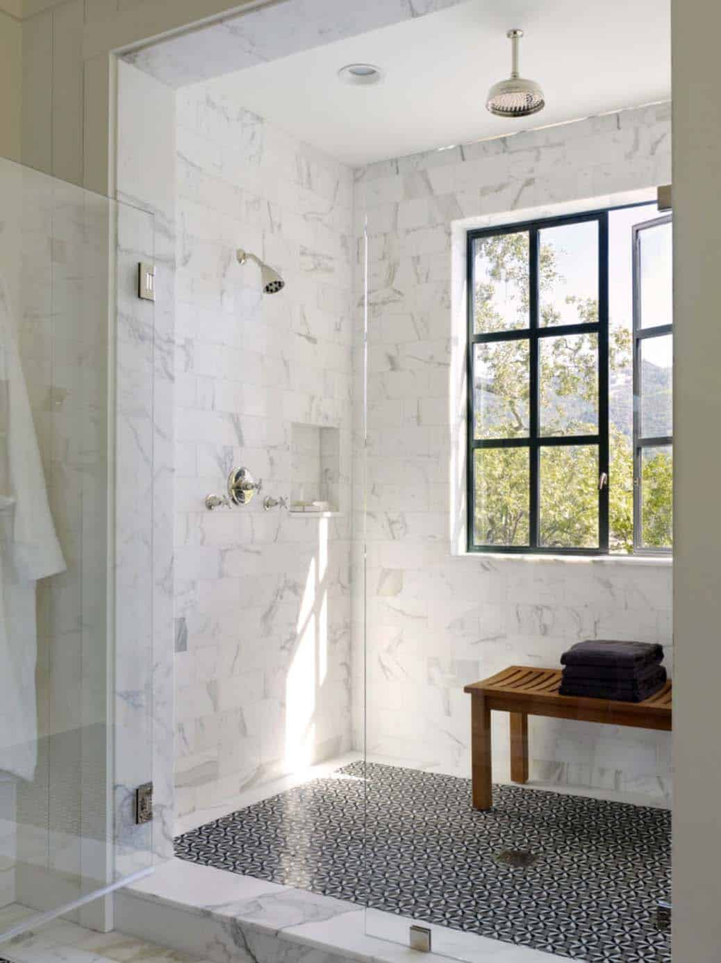 Inviting modern farmhouse with vineyard views in Napa Valley on Modern Farmhouse Shower  id=88978
