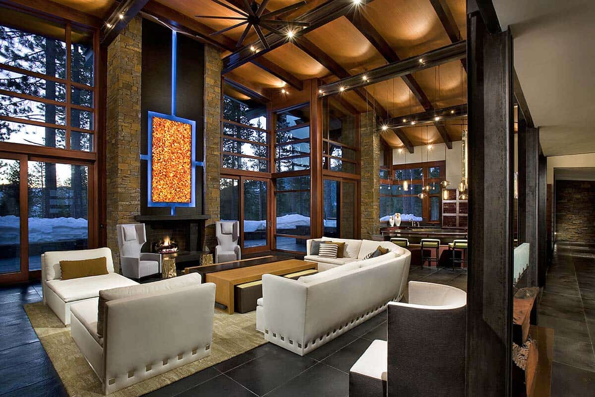 A spectacular modern mountain style dwelling in Martis Camp on Interior:ybeqvfpgwcq= Modern House Ideas  id=86053