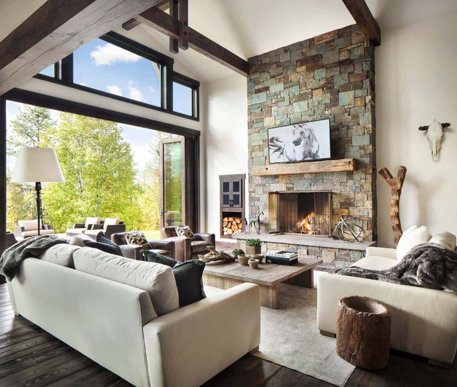 Rustic-modern dwelling nestled in the northern Rocky Mountains on Interior:ybeqvfpgwcq= Modern House Ideas  id=88324