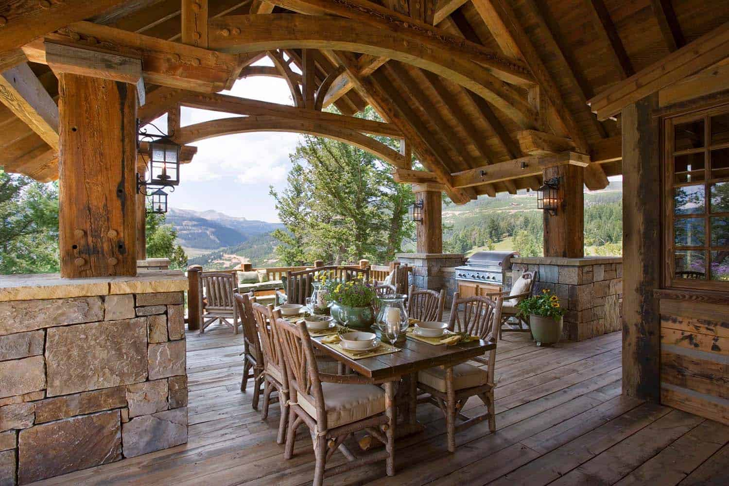 Exquisite Big Sky mountain retreat with timeless details on Mountain Backyard Ideas  id=35949