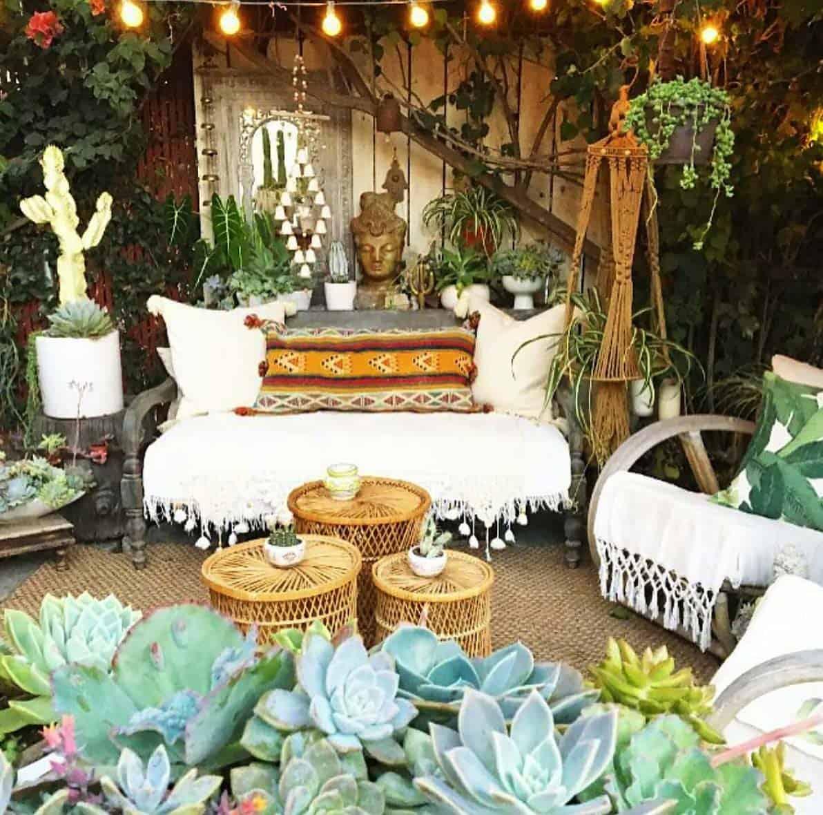 28 Absolutely dreamy Bohemian garden design ideas on Chic Patio Ideas id=84094